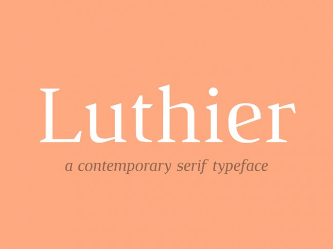 luthier free font 650x487 Luthier Free Typeface