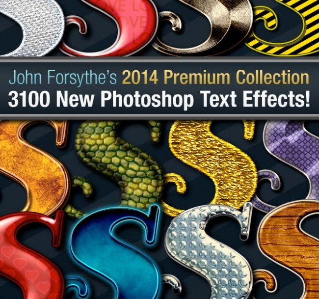md12 650x609 ALL NEW: 3,100+ John Forsythes 2014 Photoshop Text Effects Collection    only $37!