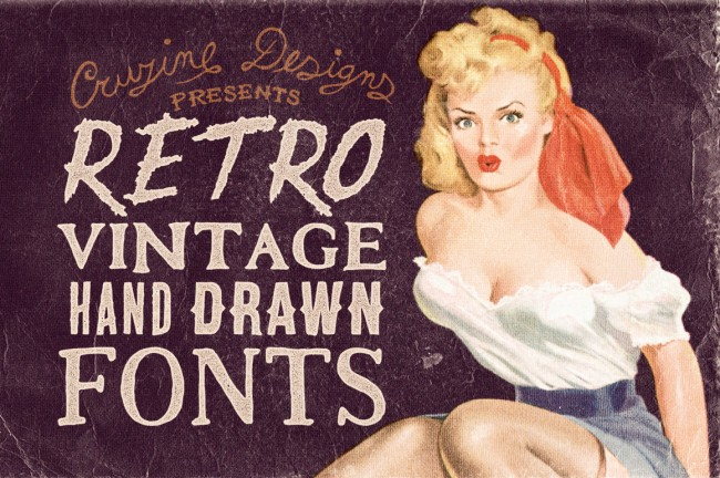 previewdeal 650x432 Retro/Vintage Hand Drawn Fonts