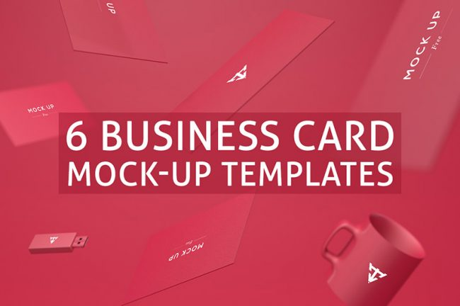 prv1 650x432 6 Free Business Cards Mock up Templates