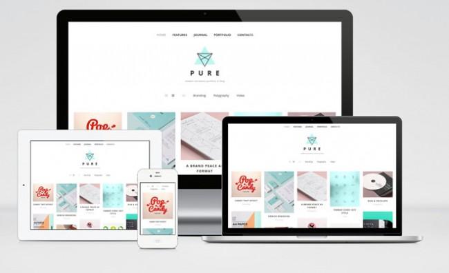 pure 01 650x396 Pure : Free Minimalist Portfolio WordPress theme