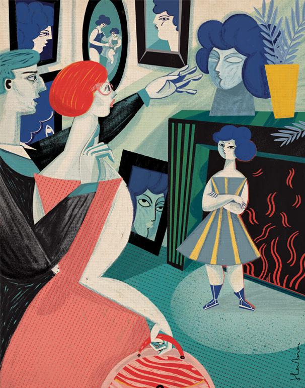 001 womens magazines illustrations gosia herba Womens Magazines Illustrations by Gosia Herba
