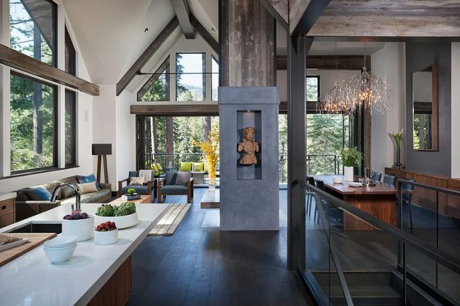 007 lake tahoe residence chelsea sachs design 650x433 Lake Tahoe Residence by Chelsea Sachs Design