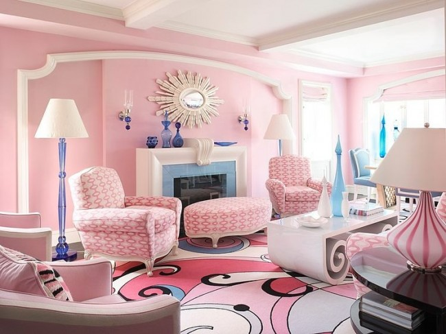 007 pink home nyc anthony baratta 650x487 Pink Home in NYC by Anthony Baratta