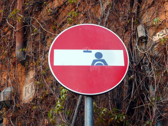 1358694332 1 640x480 Funny Street Signs by Clet Abraham