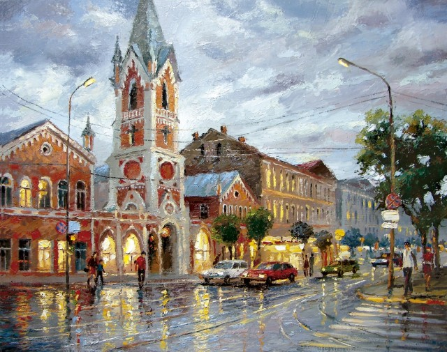 1361521819 4 640x505 City Landscape Paintings by Dmitri Spiros