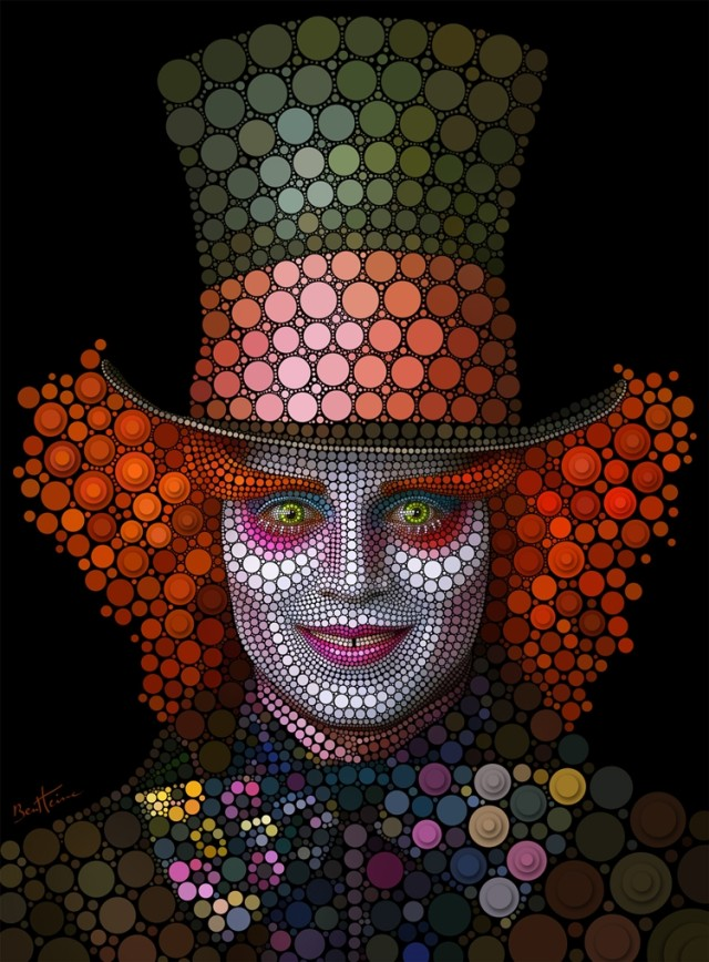 1361975821 9 640x868 Digital Circlism in Celebrity Portraits by Ben Heine