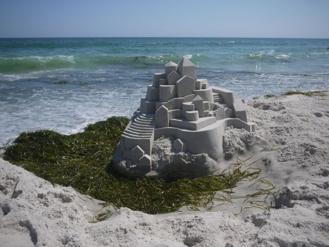 1364209379 0b 640x480 Geometrical Sand Sculpture by Calvin Seibert