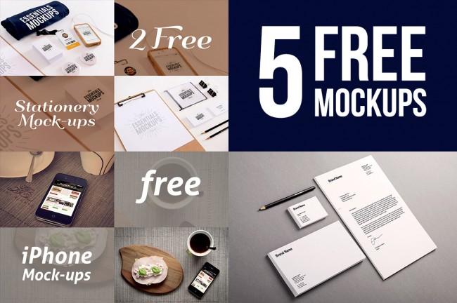 5fm 650x432 5 new&free presentation mock up templates