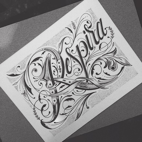 Beautiful Detailed Hand Lettering by Raul Alejandro 3 40+ Detailed Hand Lettering Artworks by Raul Alejandro