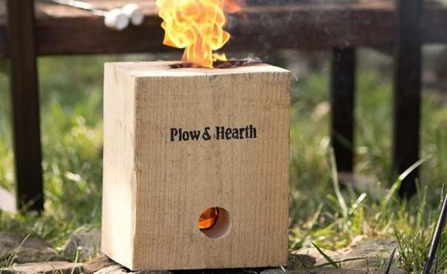 BlazingBlock Portable Outdoor Wood Bonfire 650x398 BlazingBlock Portable Wood Bonfire