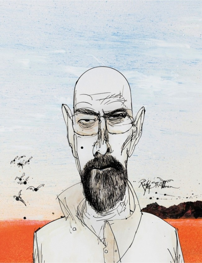 Breaking Bad Illustrations by Ralph Steadman 2014 01 650x849 Breaking Bad Illustrations by Ralph Steadman