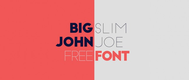 Free Font 650x277 Big John / Slim Joe Free Fonts