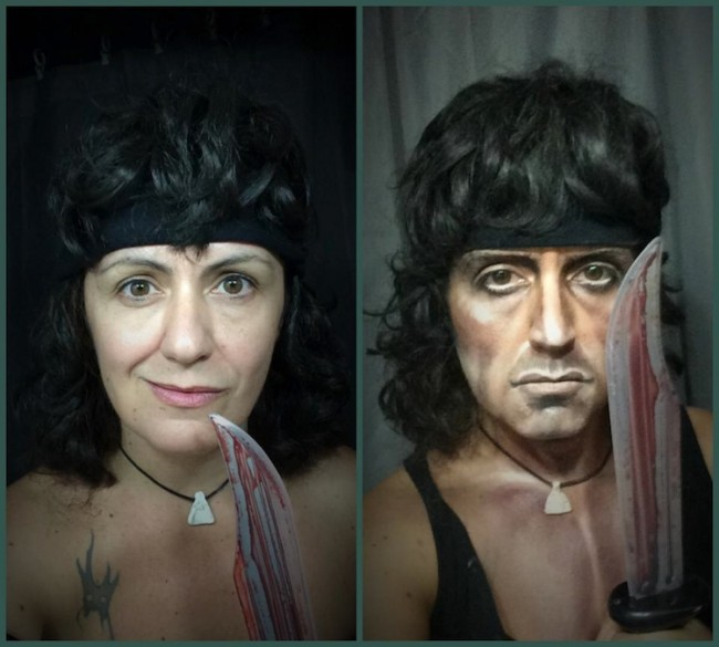 Makeup Artist Lucia Pittalis Transforms Herself To Look like Famous Celebrities 2014 01 650x585 Makeup Artist Lucia Pittalis Transforms Herself To Look Like Famous Celebrities