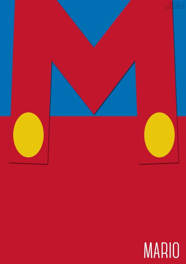 Mario Minimal by John Sideris mario Mario Minimals