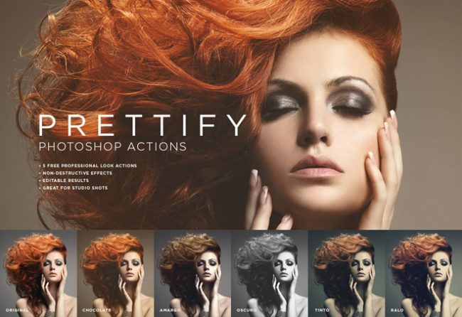 Prettify Photoshop Actions 650x446 Prettify: Free Fantastic Photoshop Actions for Photo Sudio
