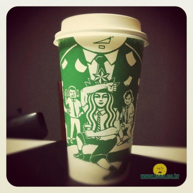 "Starbucks Cup Art by Seoul based Illustrator Soo Min Kim 2014 01 650x650 ""Starbucks Cup Art"" by Seoul based Illustrator Soo Min Kim"
