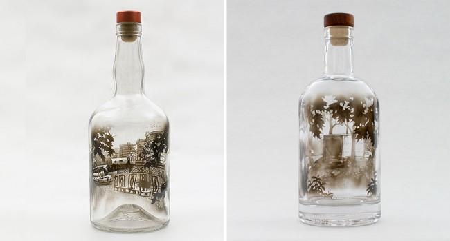 art q tips smoke7 650x349 Incredible Bottled Smoke Art by Jim Dingilian