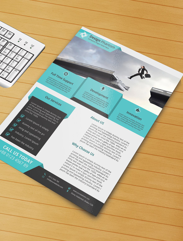 business flyer template Free Business Flyer PSD Template