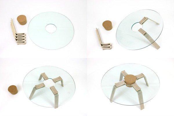 cork stopper minimalist coffee table 01 Cork Stopper Minimalist Coffee Table