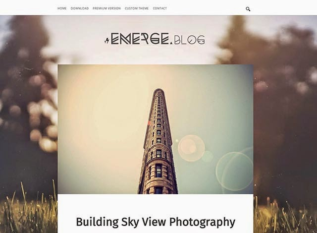 emerge personal blogger template 640 10+ Free Clean Responsive Blog Themes