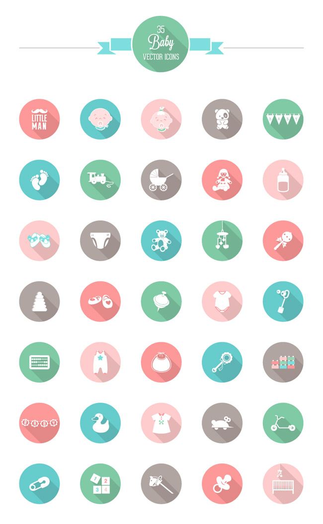 free babies icon sets 03 5 Free Funny Babies Icon Sets
