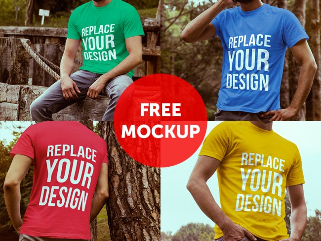 freetshirt 650x487 50 Free Useful PSD Mockups for October 2014