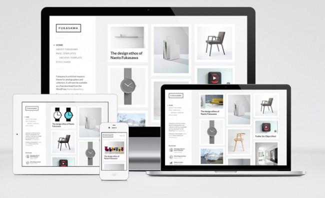 fukusawa 01 650x396 Fukusawa – Free Pinterest Style WordPress Theme for Portfolio