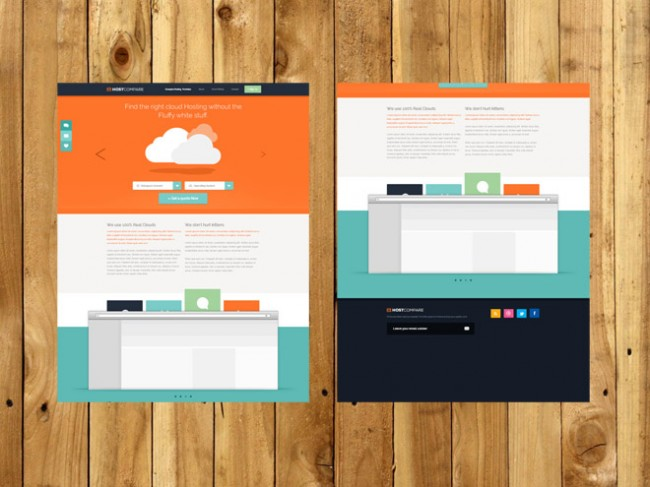 hosting psd template 04 650x487 5 Free Useful PSD Hosting Template