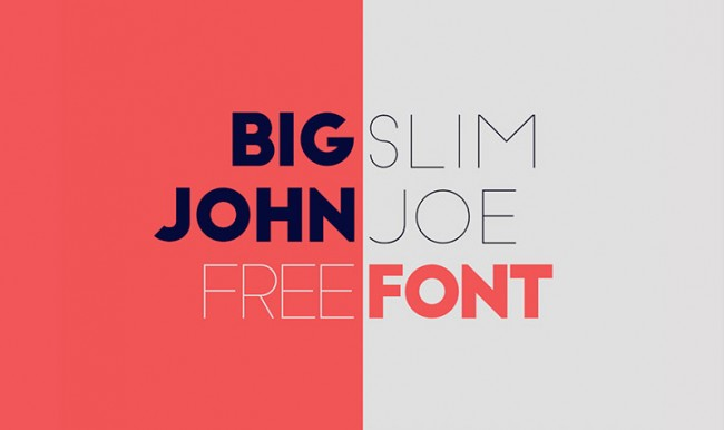 john joe 01 650x386 Big John / Slim Joe Free Typeface