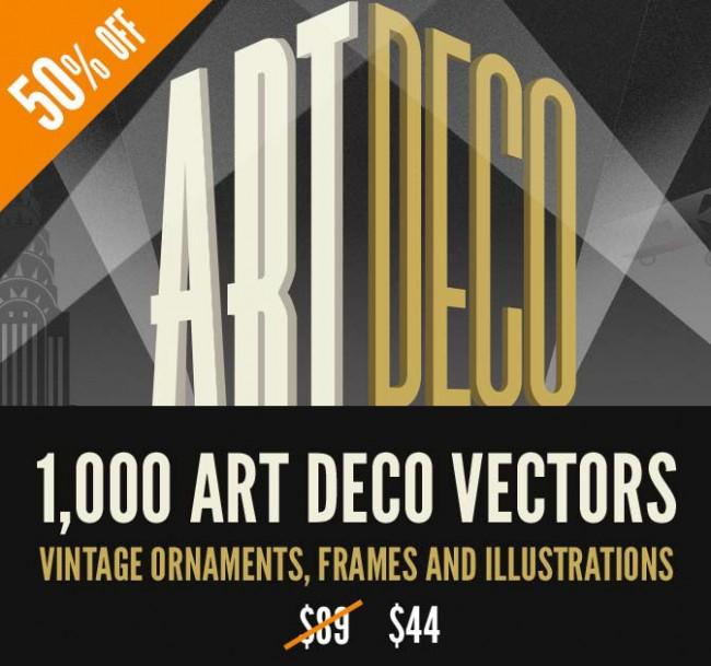 md 650x609 1,000+ Art Deco Vector Graphics from Vectorian   50% off!