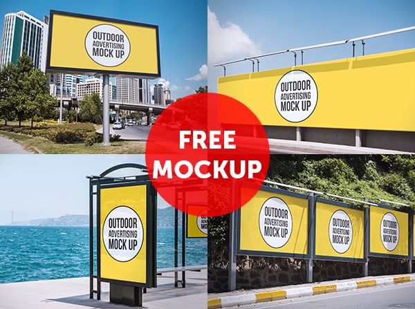 outdoor ads mockup 4 Free Outdoor Advertising MockUps