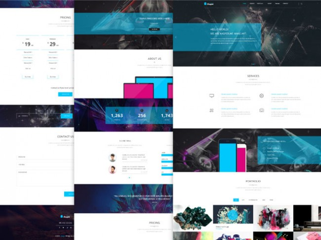 psd web template october 13 650x487 30 Free PSD Web Templates for October 2014