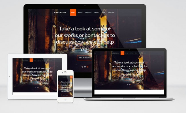 puremedia1 650x396 Puremedia : free Modern HTML Template for Business