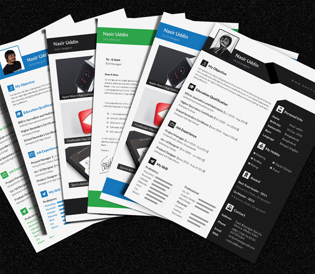 resume 01 Free Multi Page Resume Template