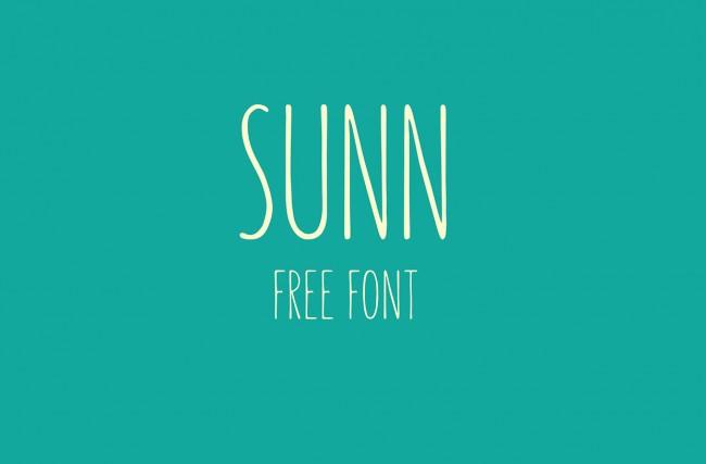 sunn 01 650x427 SUNN – Free Handwriting Typeface