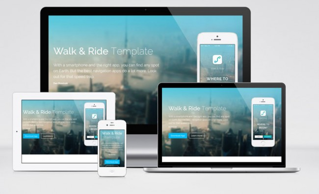 walk ride 650x396 Walk & Rid : Free Responsive One Page HTML Template