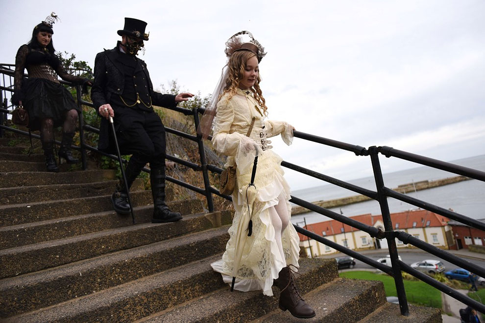1173 Goths and Steampunks Celebrate 20th Anniversary of Whitby Goth Weekend