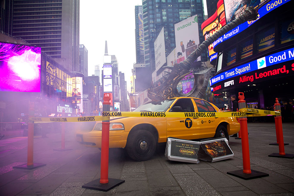 1177 Warlords Take New York – World Of Warcraft Street Ad