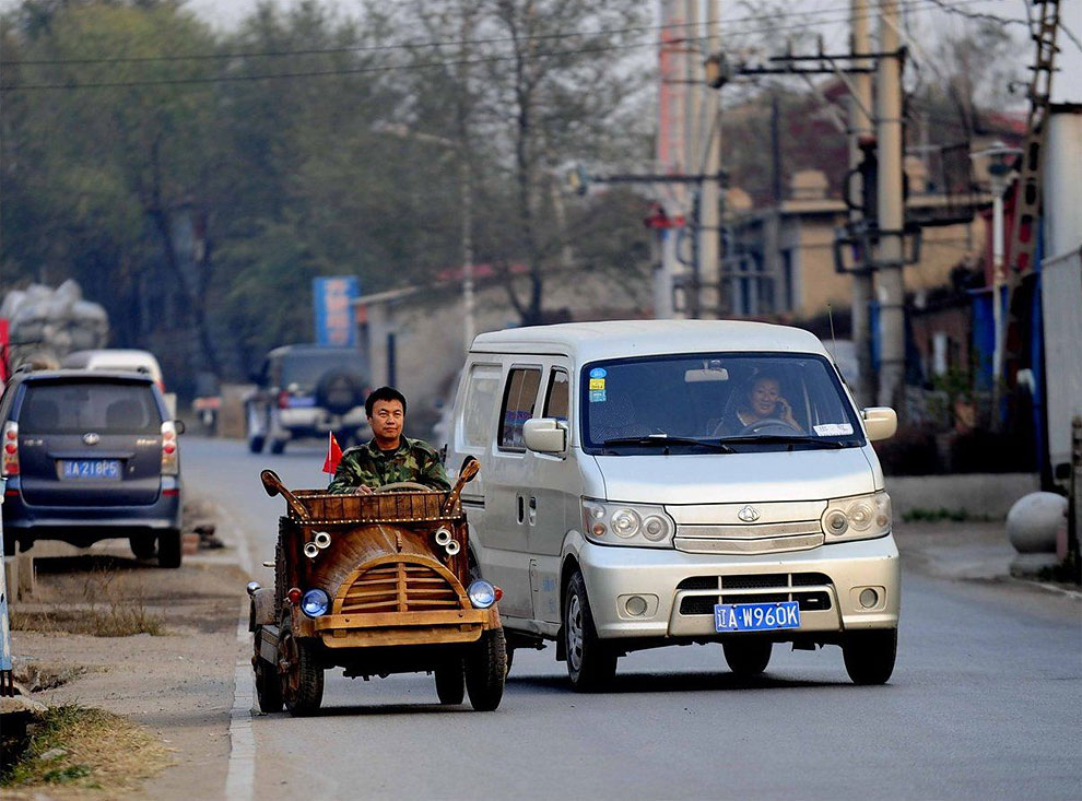 119 An Electronic Wooden Car That Is Completely Drivable