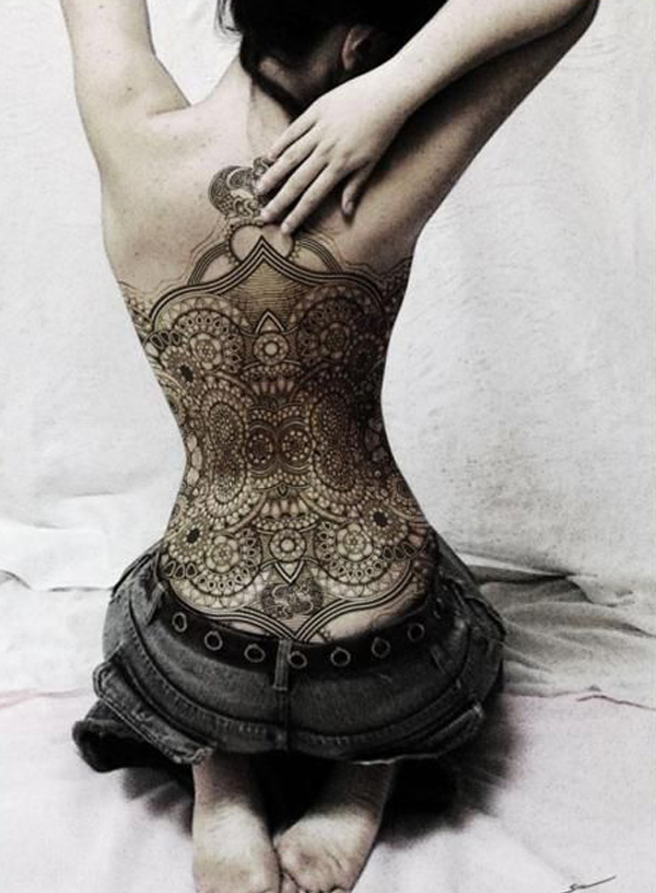 9 Lace Full Back Tattoo 45+ Lace Tattoos for Women