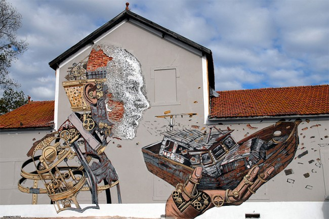 Street Artworks5 650x433 Feast for the Eyes: 40 Visually Stimulating Street Artworks