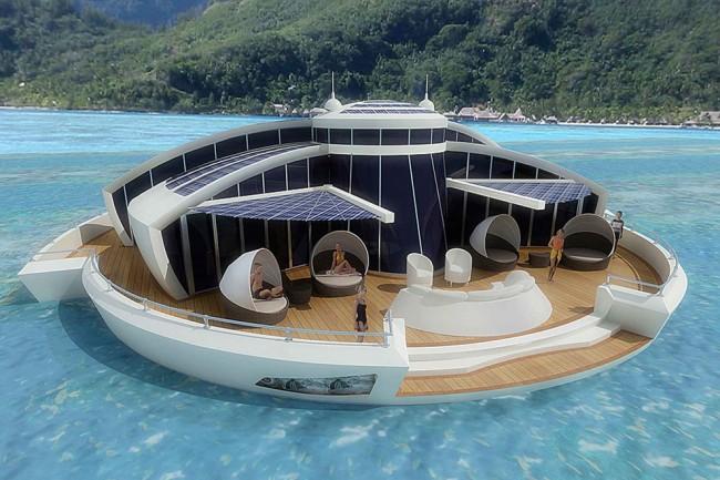 The Luxury Solar Floating Island Resort