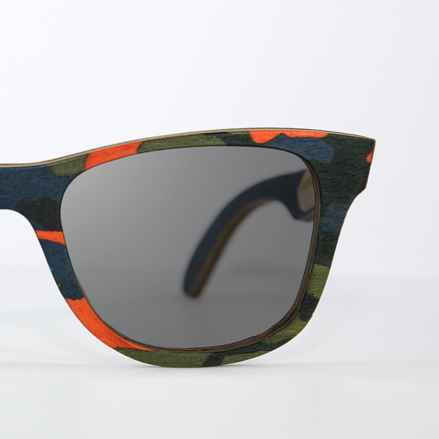 army right Orange Woodland Camouflage   WOODEN Sunglasses