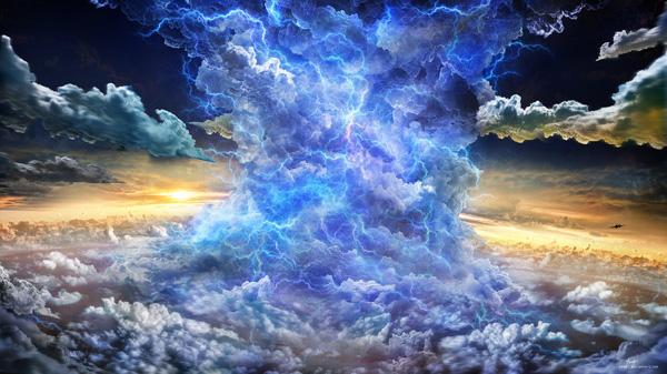 gravitoelectric storm by yongl Digital Art by Tan Yong Lin