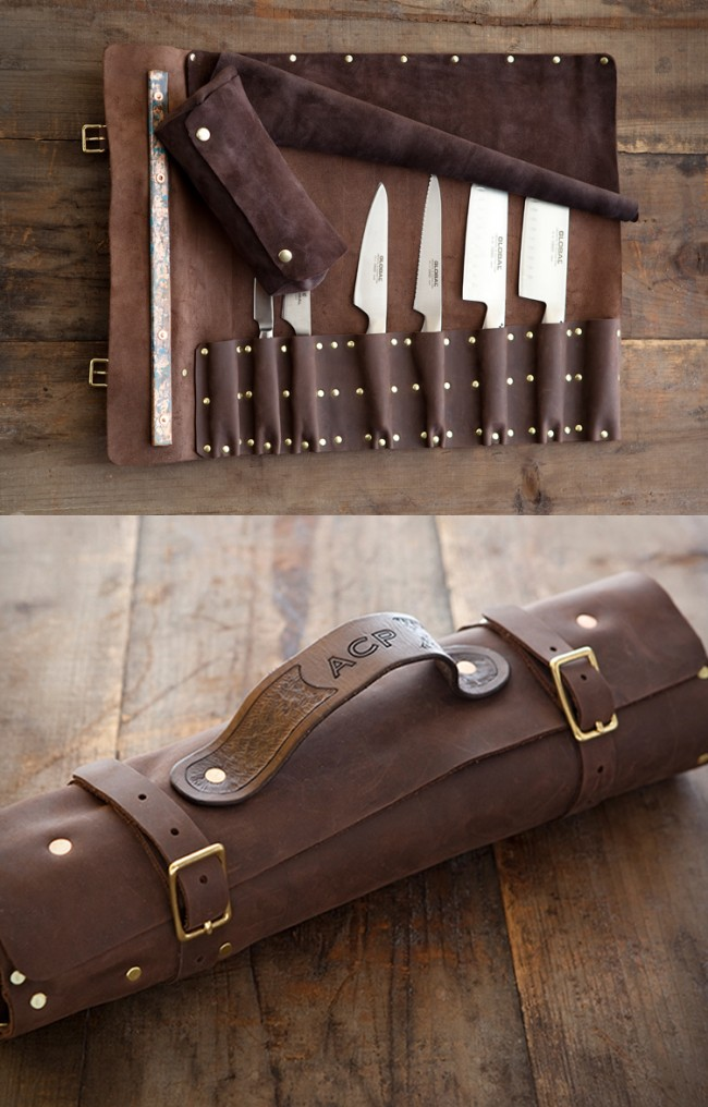 leather knife roll large 650x1016 Goodson Leather Knife Roll