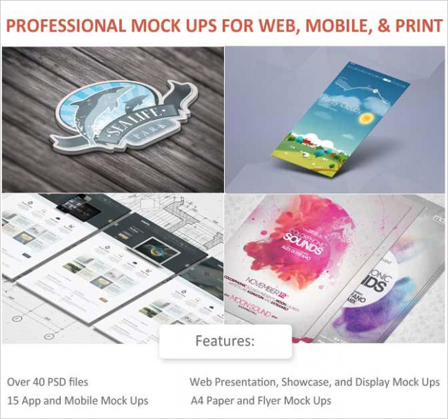 md 650x609 Professional Mock Ups Bundle with 40+ PSD files   only $27!