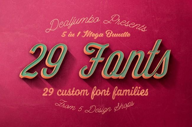 mprv3 650x432 Mega Bundle: 29 Best Custom Fonts