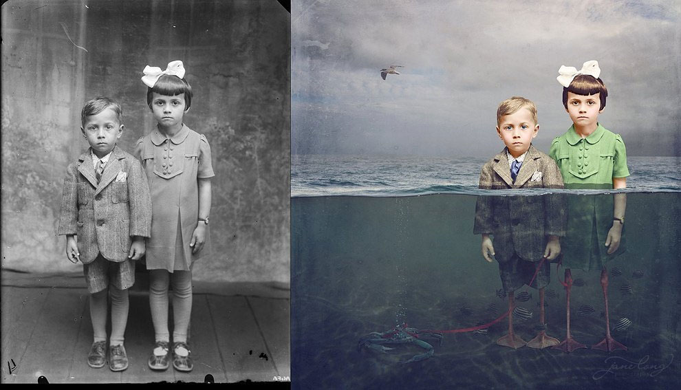 This Photographer Turns Vintage Photos Into Surreal Works Of Art