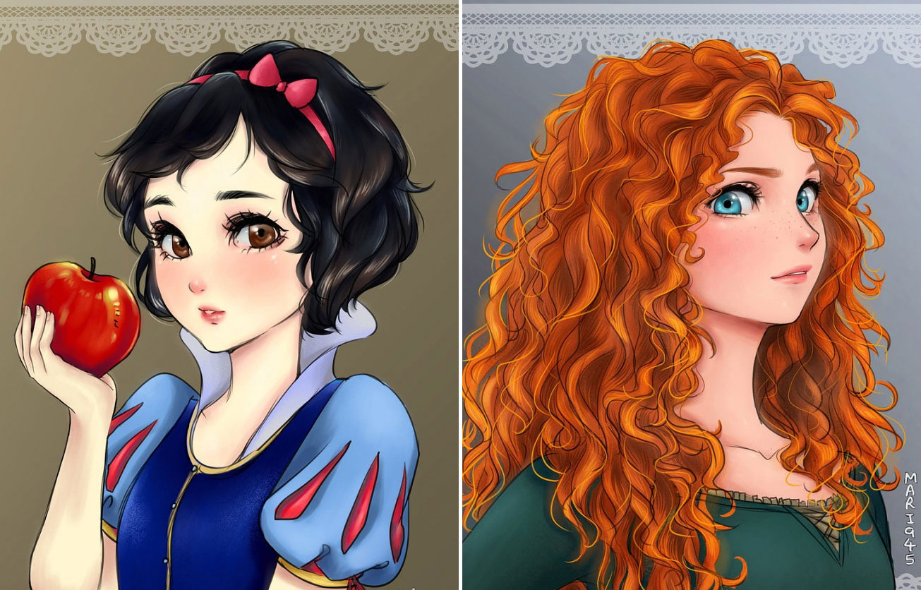 Anime Red Hair Girl Princess